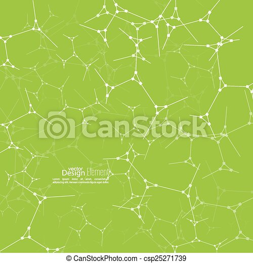 Abstract background with DNA molecule structure - csp25271739