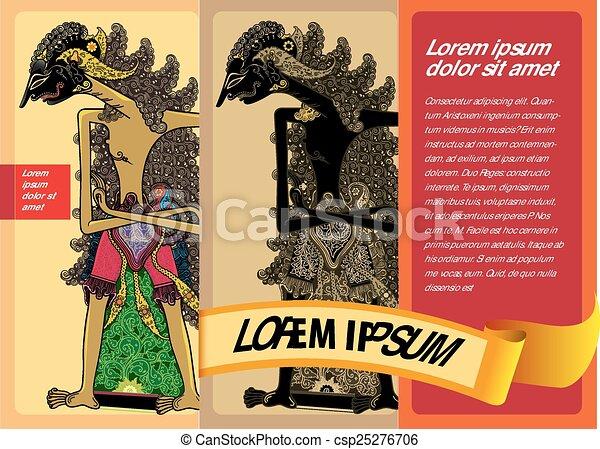 poster puppet - csp25276706