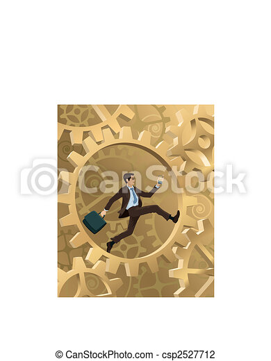 Businessman in a hurry - csp2527712