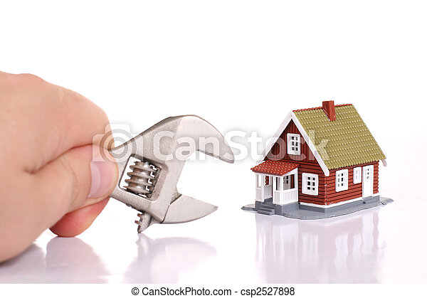 Fixing house problems concept. - csp2527898
