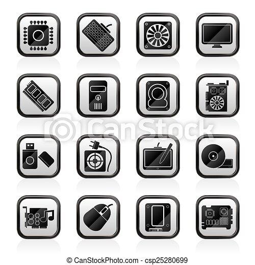 Computer Parts Logos Computer Part Icons