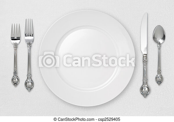 White Place Setting - csp2529405