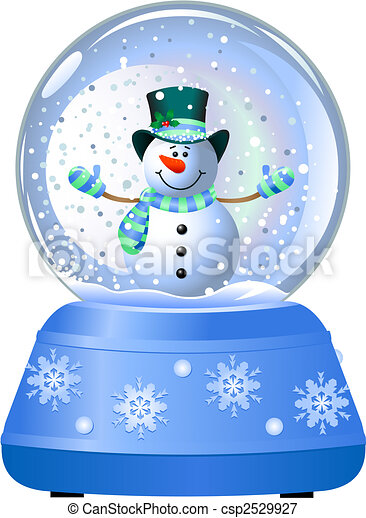 Snowman in Snow Globe - csp2529927