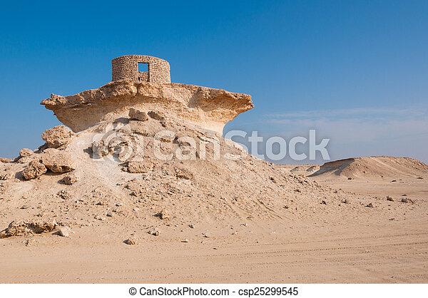 Fort in the Zekreet desert of Qatar, Middle East - csp25299545