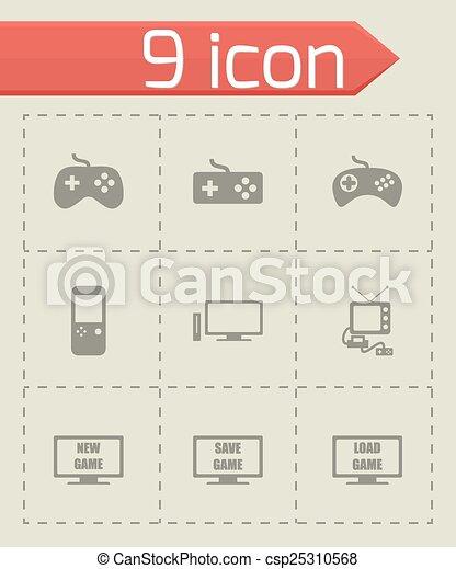Vector video game icon set - csp25310568