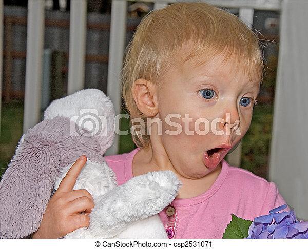 Todder Girl Surprised