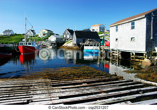 Picturesque Fishing Village - csp2531207