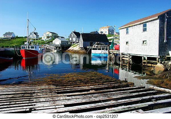 Picturesque Fishing Village - csp2531207