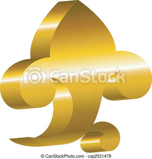 Element of design - a golden cartouche. - csp2531479