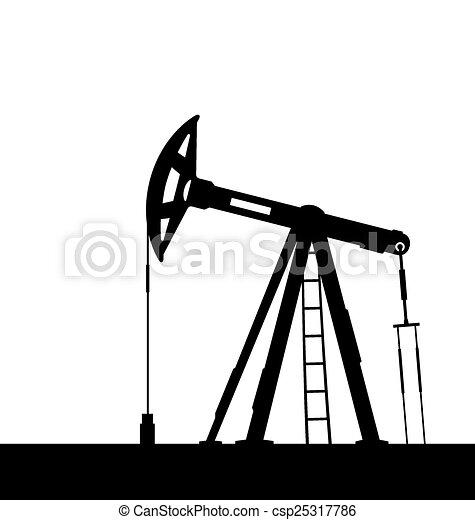 Vecteur de huile p trole isol pompe cric fond blanc csp25317786 recherchez des - Pompe a petrole ...
