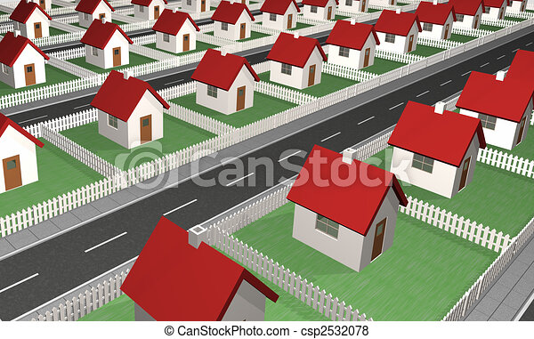 Houses - Residential Neighborhood - csp2532078