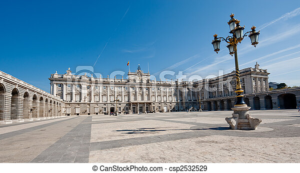 Royal Palace in Madrid - csp2532529