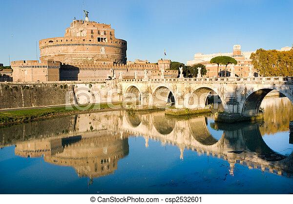 Sant'Angello castle in Rome - csp2532601