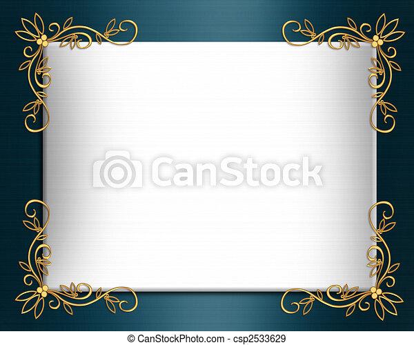 Wedding invitation border Elegant satin - csp2533629