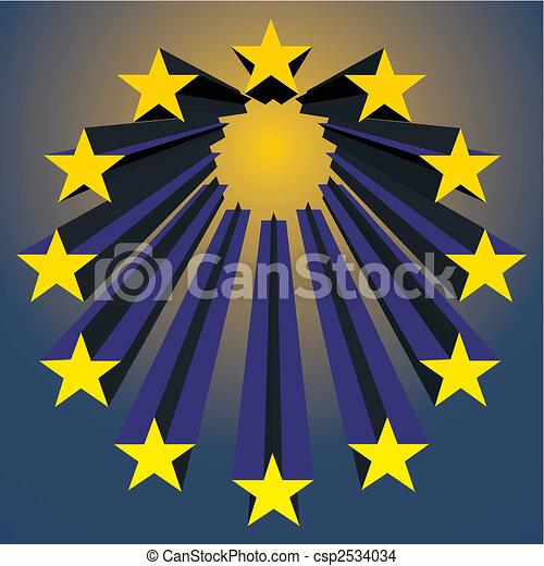 european unions stars - csp2534034
