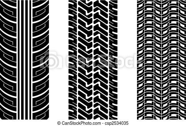 Tire tracks - csp2534035