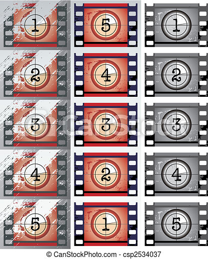 Film countdowns (vector) - csp2534037