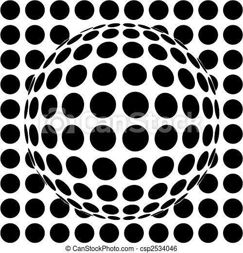 op-art sphere - csp2534046