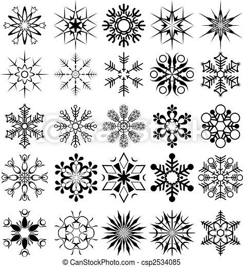 vecteur, flocon de neige,  collection - csp2534085