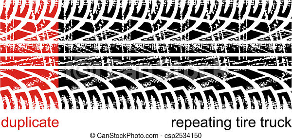 Tire tracks - csp2534150
