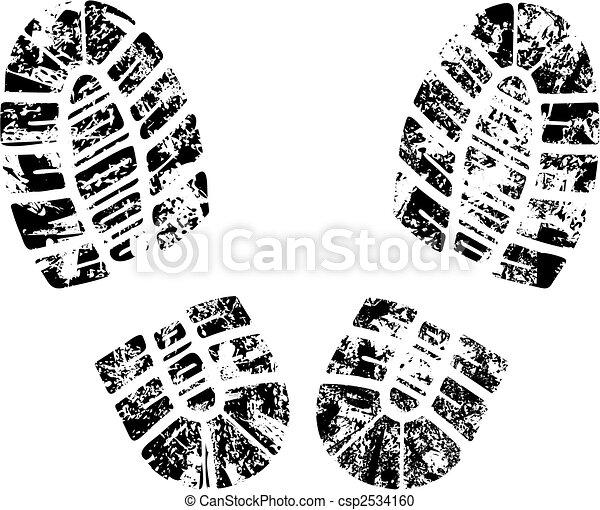 vector bootprint - csp2534160