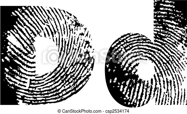 finger print alphabet - csp2534174