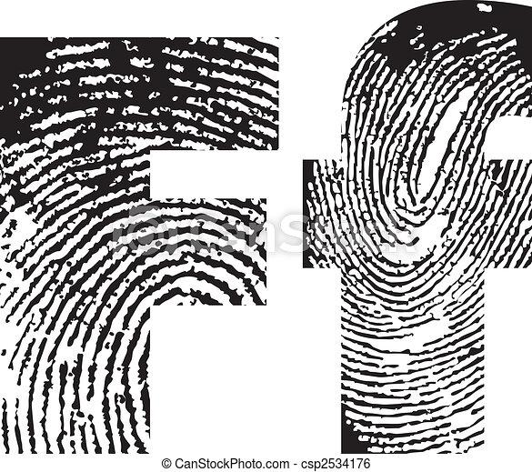 finger print alphabet - csp2534176