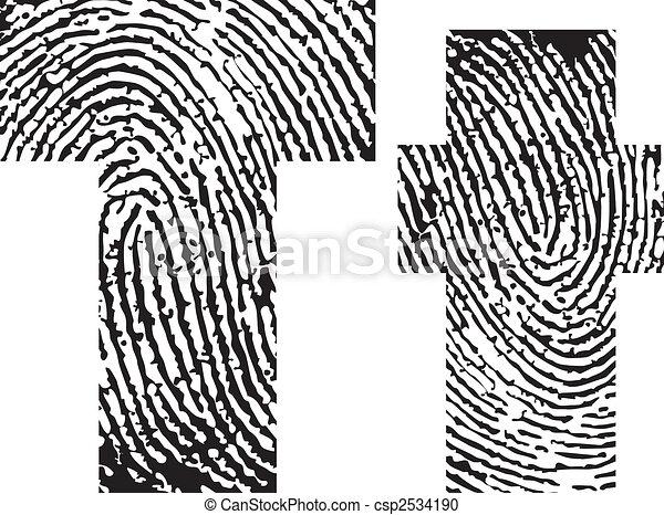 finger print alphabet - csp2534190