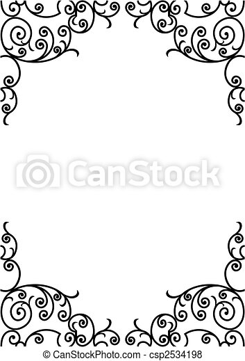 wrought iron frame - csp2534198