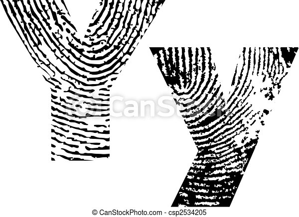 finger print alphabet - csp2534205
