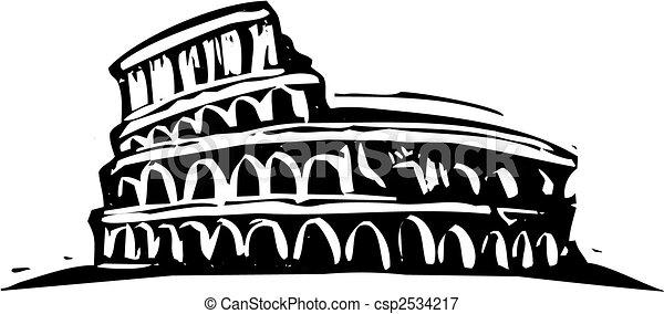 roma, colosseo - csp2534217