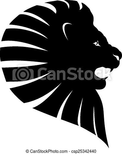 Simple lion head clipart - photo#52