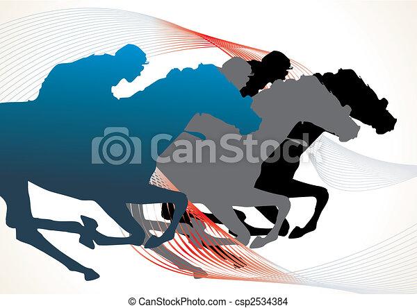 horse race - csp2534384
