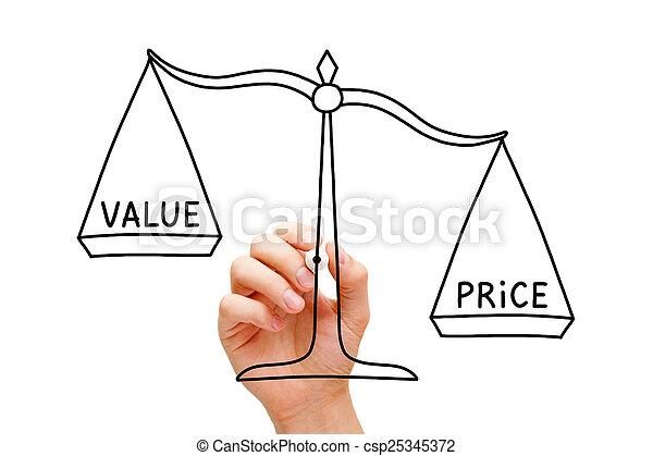 Price Value Scale Concept - csp25345372
