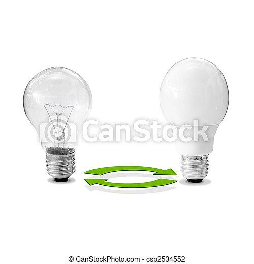 energy-efficient lamp - csp2534552