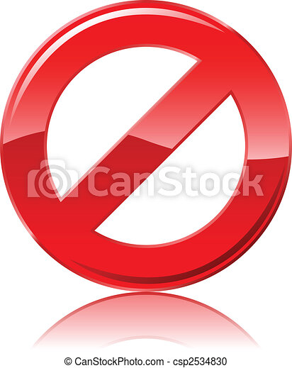 Restrictive sign - csp2534830