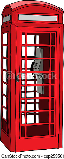 British red phone booth - csp2535010