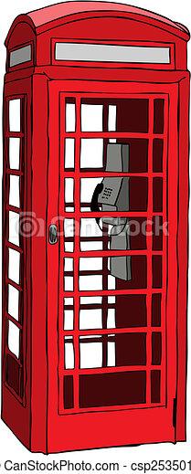 British red phone booth - csp2535010