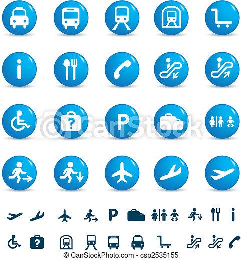 travel icon set - csp2535155
