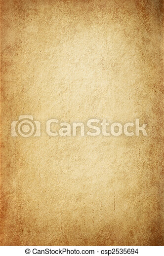 antikes, GELBLICH, pergament - csp2535694