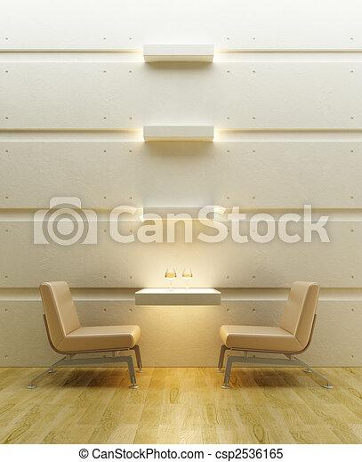 lounge room interior - csp2536165
