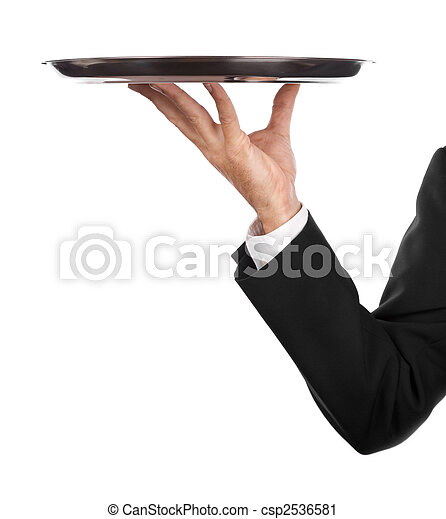waiter with tray - csp2536581
