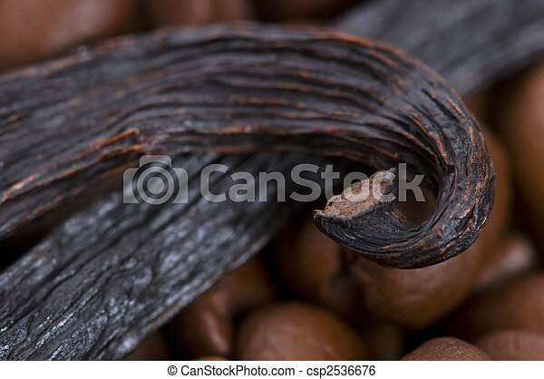 aroma coffe. ingredients. coffe beens, vanilla - csp2536676