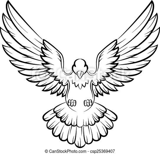 Clipart Vecteur De Dessin Anim Colombe Oiseaux Logo