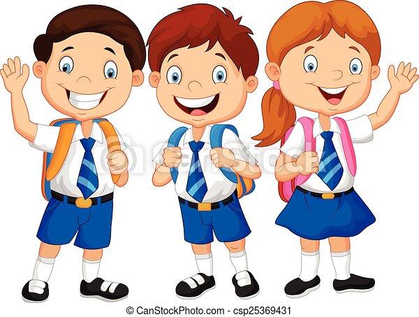 cartoon happy school children csp25369431 - Cartoon Children Images