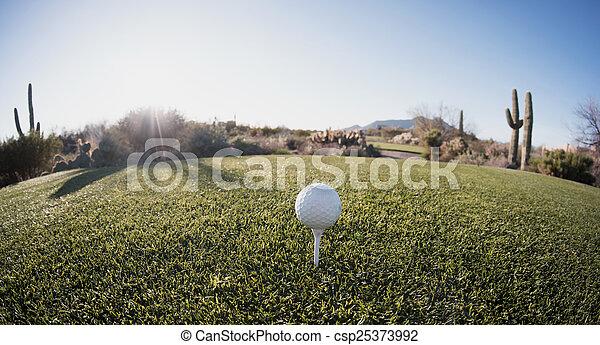 Tee off - golf ball