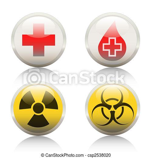 Symbol-Hospital-Radioactive-Biohazard - csp2538020