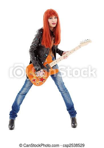 guitar babe - csp2538529