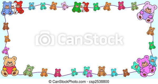 horizontal frame with teddies border - csp2538800