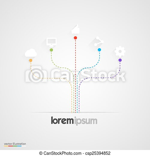 Abstract infographics vector templates - csp25394852